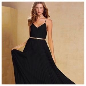 Victoria's Secret Knife Pleat Maxi Dress